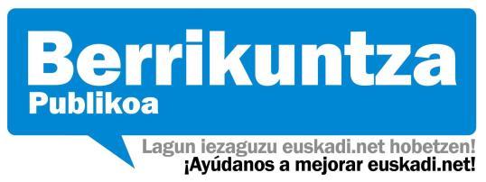 ayúdanos a mejorar euskadi.net