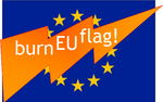 burn EU flag