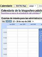 Calendario de la blogosfera pública