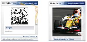 El País widgets