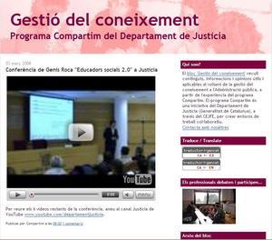 gestió coneixement blog justicia