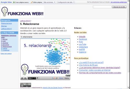 funkziona web! maqueta