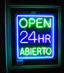 open abierto