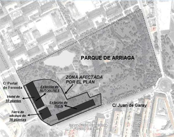 proyecto estación intermodal parque arriaga