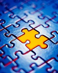 Puzzle para los factores de éxito
