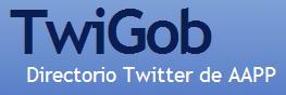 Logo de TwiGob, Directorio Twitter de administraciones públicas y política