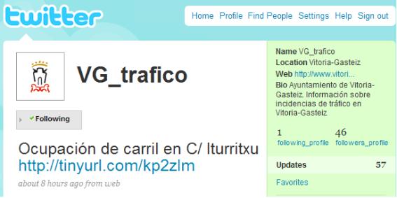 twitter tráfico ayuntamiento vitoria