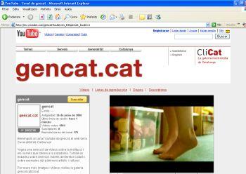 Canal de la Generalitat de Catalunya en YouTube
