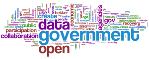 Nube de etiquetas sobre Open Government