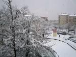 la ciudada nevada desde la biblioteca